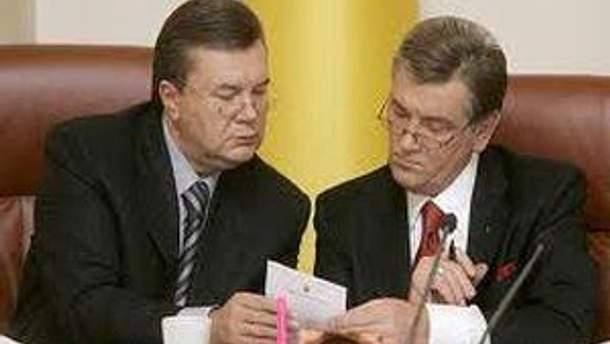 Виктор Янукович и Виктор Ющенко