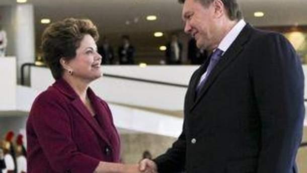 Виктор Янукович и Дилма Руссефф