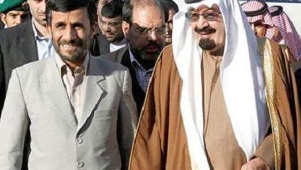 Махмуд Ахмадінеджад та Абдулла ібн Абдель Азіз
