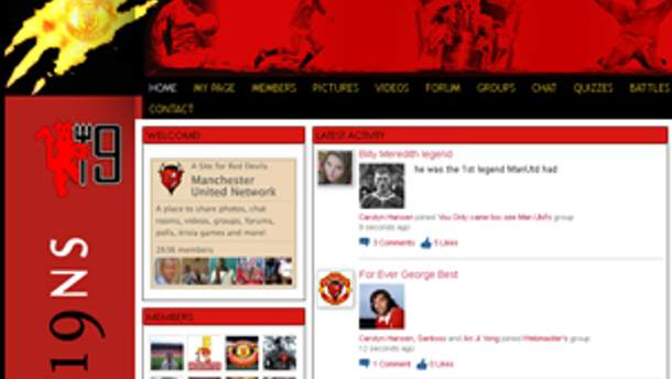 Скріншот сторінки manutdnetwork.com