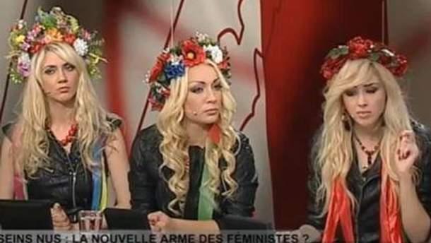 Активистки FEMEN в эфире ток-шоу Infrarouge