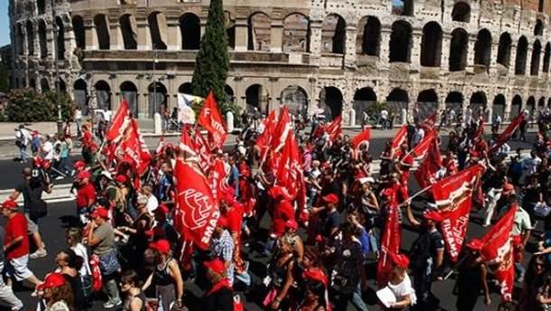 Італійці протестують проти антикризових заходів уряду