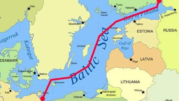 Маршрут газопроводу Nord Stream