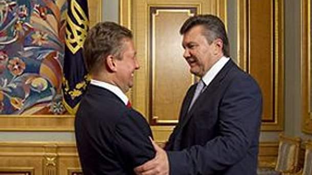 Олексій Міллер і Віктор Янукович