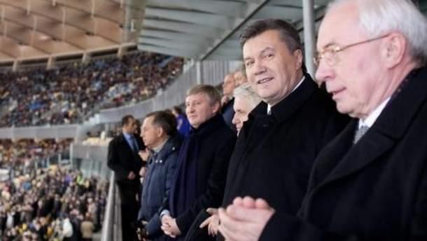 Первые лица государства на матче сборных Украины и Германии