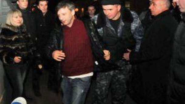 Андрій Слюсарчук під час затримання