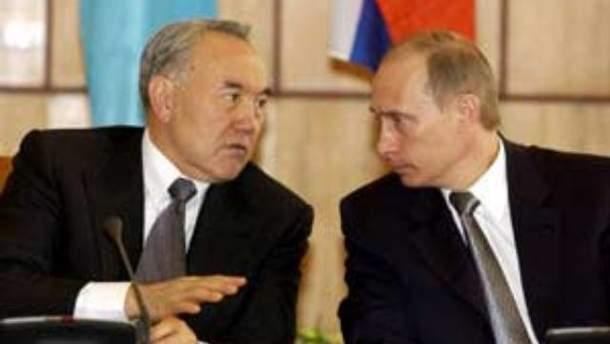 Нурсултан Назарбаєв і Володимир Путін