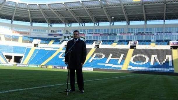 Президент побував на стадіоні за день до відкриття