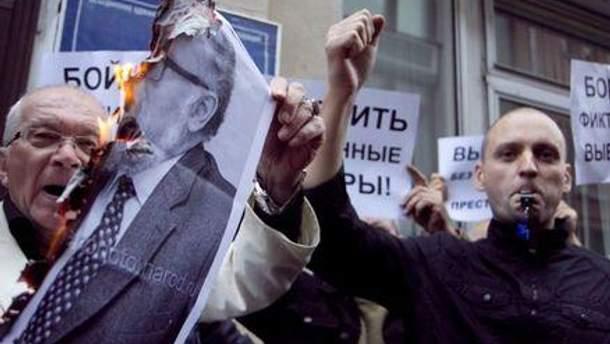 Полиция задержала нескольких участников акции у здания ЦИК