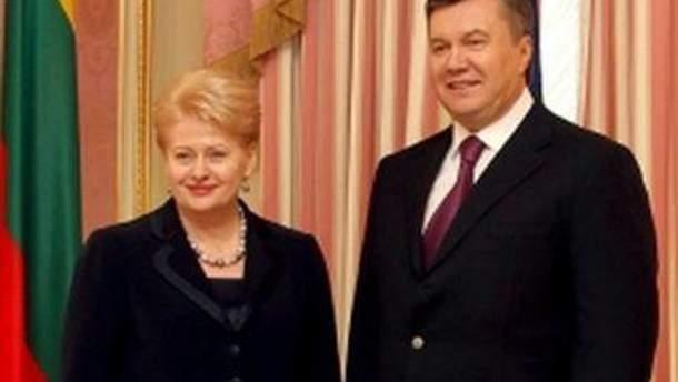 Грібаускайте і Янукович говоритимуть про євроінтеграцію України