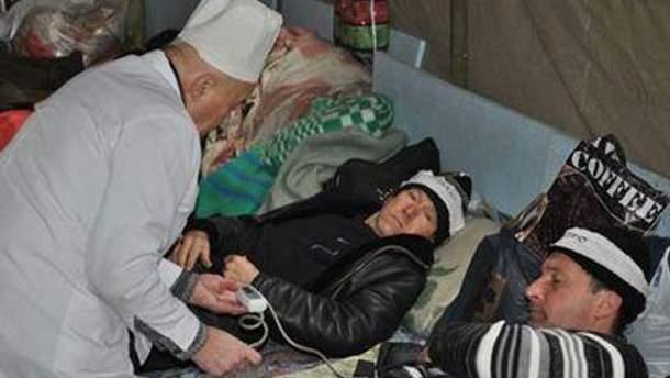 На смену госпитализированным приходят новые протестующие
