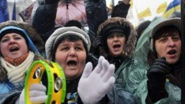Митингующие на Майдане