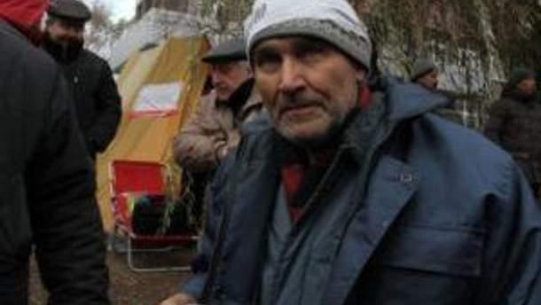 Голодающие чернобыльцы в Донецке