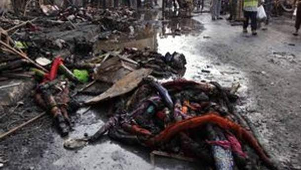 Террористы взорвали мотоциклы на местном рынке