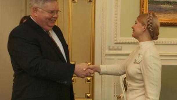 Джон Теффт и Юлия Тимошенко в конце 2009 года