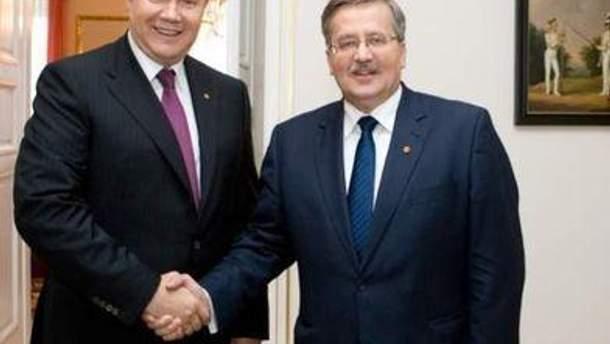 Последний раз Коморовский и Янукович виделись на прошлой неделе