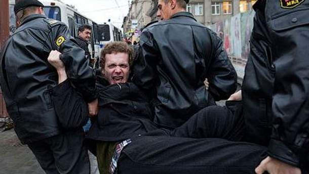 Праовохоронні органи розігнали несанкціоновані мітинги