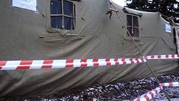 Палатку хотели использовать как общественную приемную нардепа