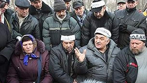 """""""Чорнобильці"""" не припиняють акцію протесту"""