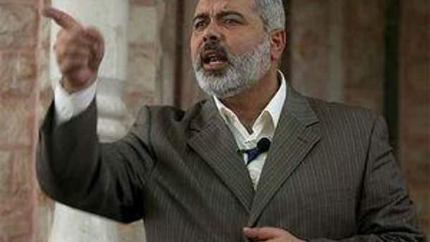 Премьер-министр в подконтрольном ХАМАС палестинском правительстве Исмаил Хания