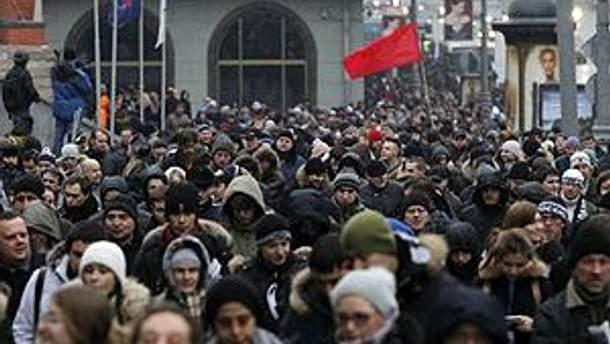 Учасники акції йдуть на Болотну площу в Москві