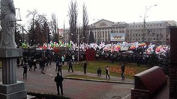 Прихильники Тимошенко біля Апеляційного суду Києва