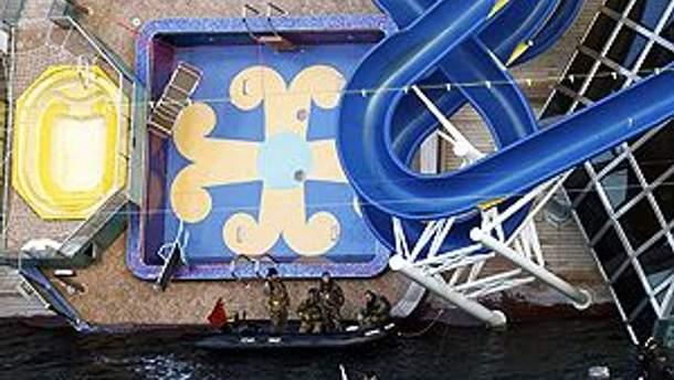 На Costa Concordia продолжаются поисковые работы
