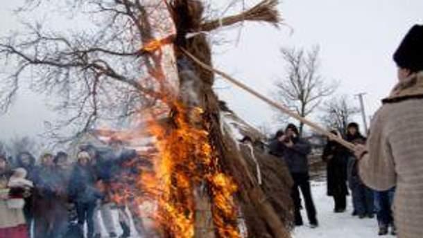 Вечером черниговцы будут сжигать чучело зимы