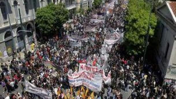 Забастовки транспортников в Афинах