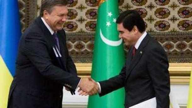 Янукович називає Туркменістан стратегічним партнером