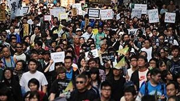Протестуючі у Гонконгу