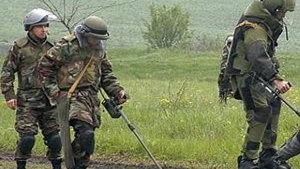 Російські сапери у Чечні