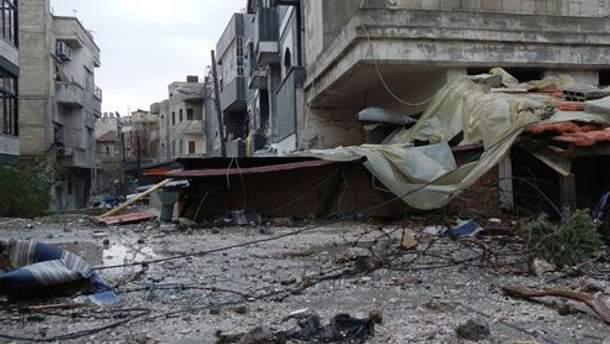 Улицы сирийского Хомса после столкновений правительственных войск и оппозиции