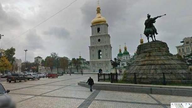 Софійська площа в Google Street View