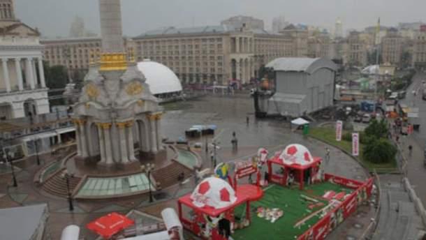 Фан-зона ЕВРО-2012 в Киеве