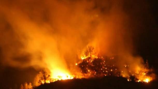 Пожар в Туве