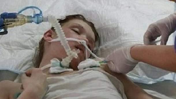Александра Попова в больнице