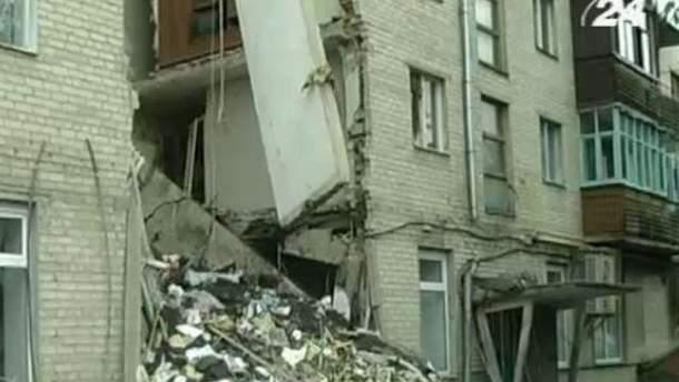 Обрушившийся дом в Луцке