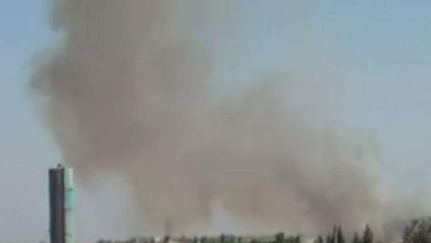 База ПВО в дыму (кадр из видео)