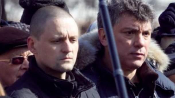 Борис Немцов и Сергей Удальцов