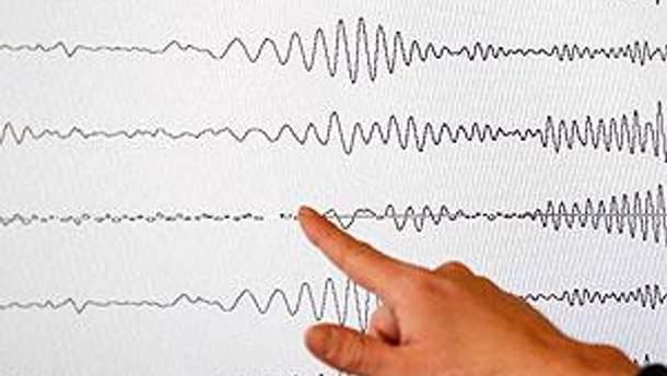 График землетрясения. Иллюстрация