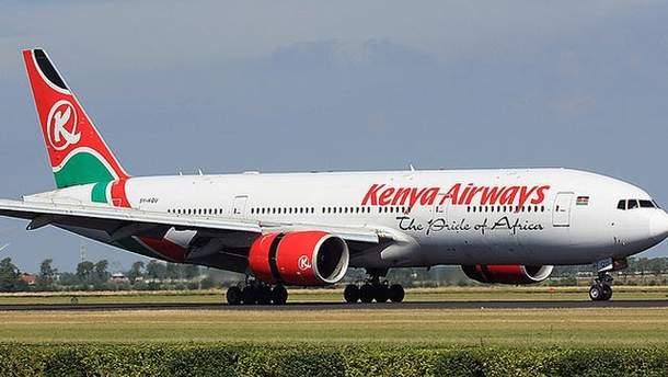 Самолет авиакомпании Kenya Airways