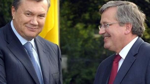 Віктор Янукович з Броніславом Коморовським