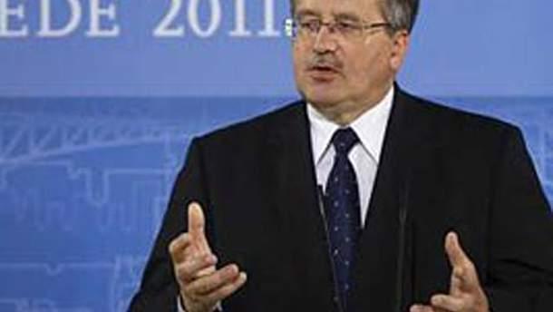 Президент Польщі хоче поговорити про Тимошенко перед фіналом ЄВРО-2012