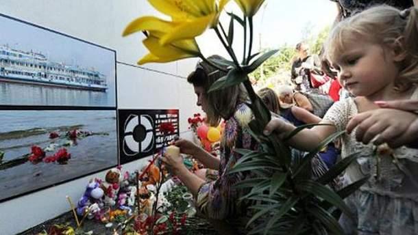 Памятник жертвам теплохода