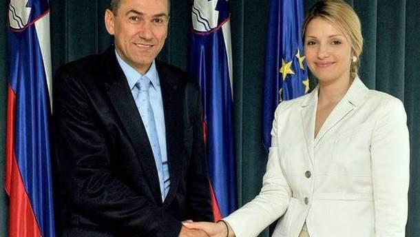 Евгения Тимошенко и Янеш Янса