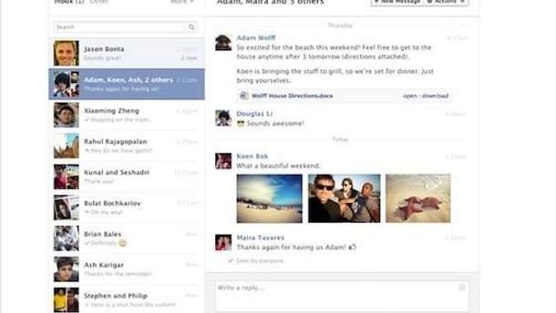 Обновленный Facebook Messages