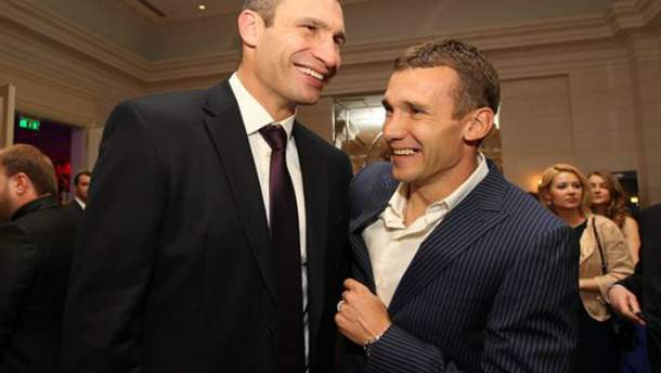 Виталий Кличко и Андрей Шевченко