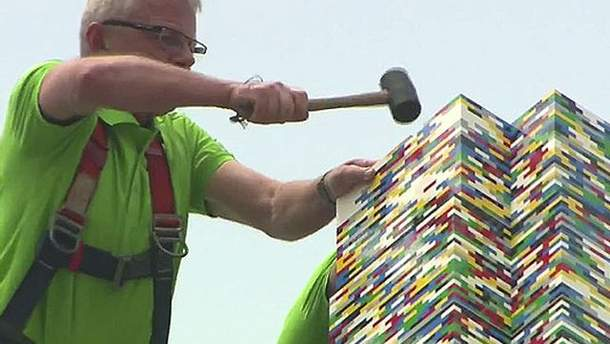 Создание башни из Лего