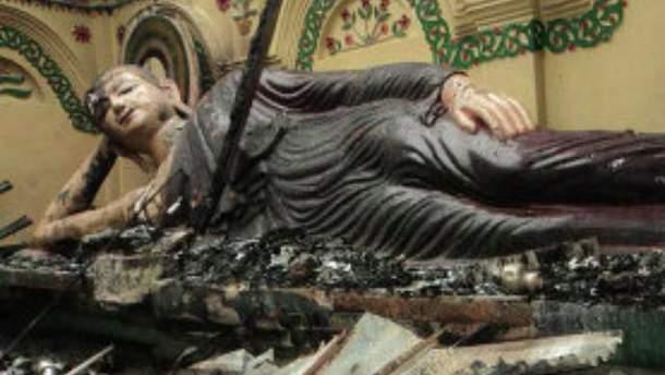 Зруйнований храм буддистів